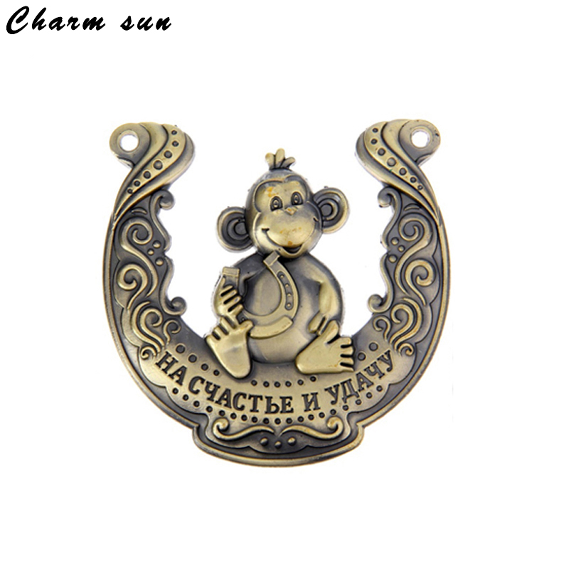 New arrival 2017. monkey horseshoes alloy metal crafts and coins souvenirs for home wall decoration 1pc/lot