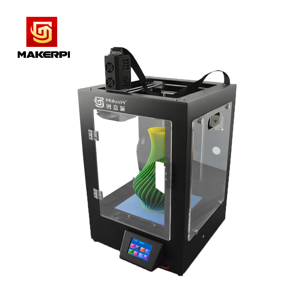 MakerPi Fully Enclosed Mix-Color Printing 3D Printer Machine w/Filament Dual Extruder For Drop Shipping 2