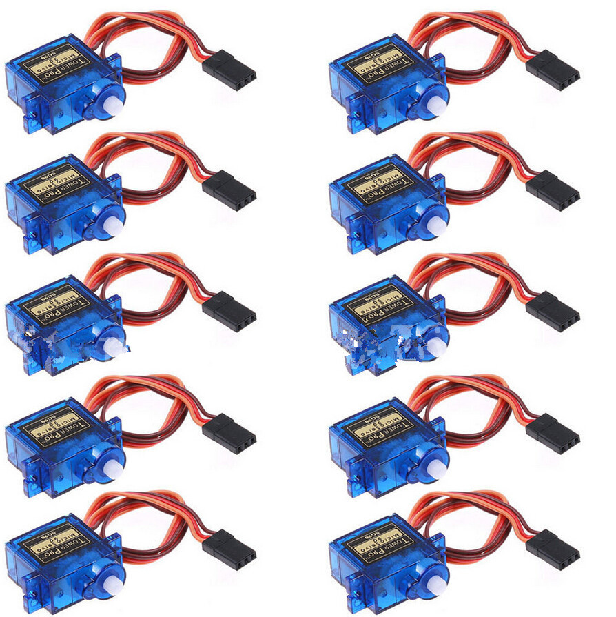 10pcs/lot Tower Pro SG90 Micro Servo 9g Torque 1.8kg JR for Aeromodelling Trex 450 RC Planes Helicopter Parts mg995 tower pro servo