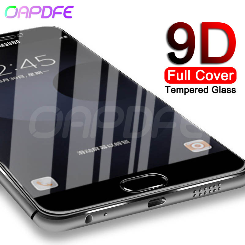 9D Full Cover Tempered Glass On The For Samsung Galaxy J3 J5 J7 2016 2017 J2 J4 J6 J8 2018 S7 Screen Protector Protective Film