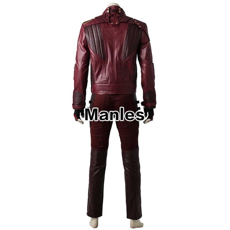 Guardians of The Galaxy 2 Cosplay Star-Lord Peter Jason Quill Superhero Costume Outfit Halloween Adulto Botas de Homens Jaqueta adaptados