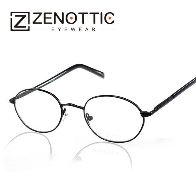 37beda4b0 Zenottic خمر النظارات إطار نظارات هاري بوتر نمط الرجعية العين إطارات الرجال  جولة إطارات النظارات الأسود