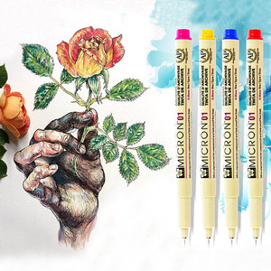 Marker Set Pigma Micron Pen 0.45mm 0.25mm Waterproof Drawing Marker Pen Manga Hook Line Art Supplies Marker