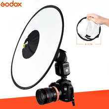 Godox difusor de Flash cónico RS18, difusor suave Circular plegable portátil para la mayoría de Flash de cámara/Speedlite/AD200/AD600