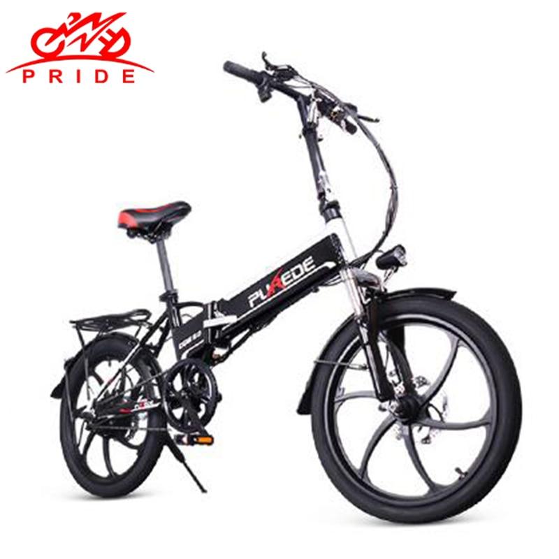 Bicicleta elétrica 20 polegada de Alumínio Bicicleta elétrica Dobrável 350 W 48V12. bateria Elétrica Poderosa 5A Mountain bike e Ciclismo Bicicleta Da Neve