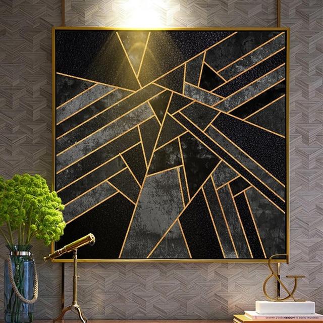 Moderne abstrait géométrique peinture décorative salon