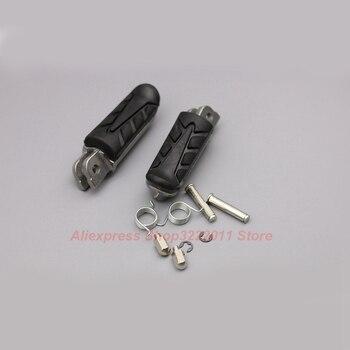 Motorcycle Aluminum Foot Pegs For Honda NTV 650 JK Revere 88-89  NTV 650 L Revere 90 Rubber Footrest Pedals FootPegs Мотоцикл