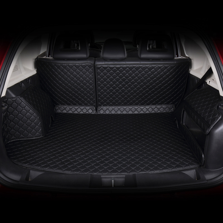 dedicatef full surrounded car trunk mats for Citroen Elysee Sega C3-XR C4L C5 trunk mat surrounded by leather full cover right hand steering rhd waterproof carpets durable special car floor mats for citroen c4 c5 c6 c3 xr c2 c3 most model
