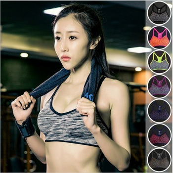Women Fitness Yoga Sports Bra For Running Gym Padded Wire free Shake proof Underwear Push Up
