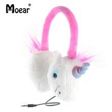 hot deal buy children girls kids unicorn headphones wired eearphones  for ipad tablet mp3 players pc