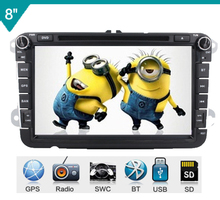 8″ 2din car dvd GPS player For VW/PASSAT/Variant/GOLF/V/POLO/EOS/AMAROK/SAGITAR/JATTA steering wheel control,ipod,radio,usb