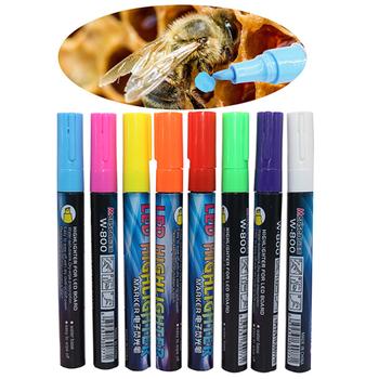 1 sztuk LED wyróżnienia Marks Pen Queen Bee Marker 135mm * 4mm 8 kolory opcjonalnie Bevel stalówka pędzel narzędzia pszczelarskie tanie i dobre opinie TUBEBEANS CN (pochodzenie) LED Highlighter beekeeping tools yellow light blue white purple pink orange light green 1 Pcs