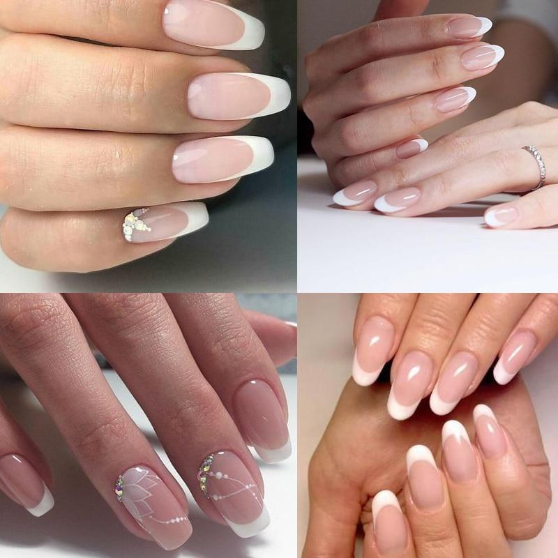 french-white-nail-art-design