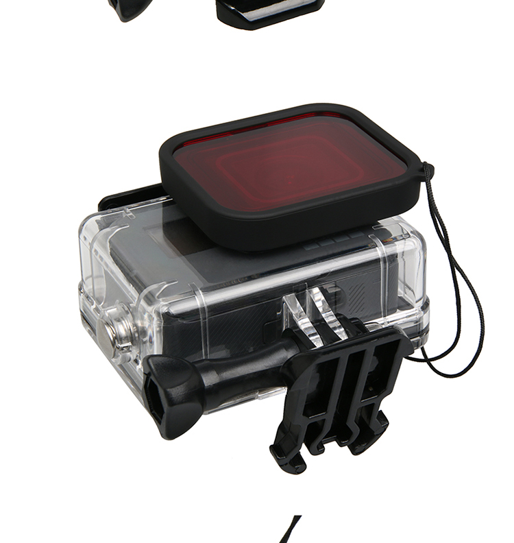waterproof Case Red Diving Filter lens Dive Underwater Lente Filtors Protector For Go pro Hero Black 5 6 7 Accessories - ANKUX Tech Co., Ltd