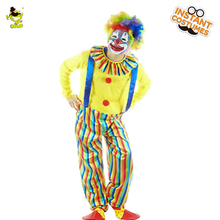 QLQ Hot Sale Men's Yellow Clown Joker Suit Cosplay Halloween Party Costume