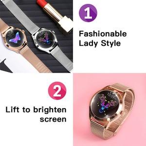 Image 2 - Водонепроницаемые Смарт часы IP68, женские часы с мониторингом сна, пульсометром, Модные Смарт часы KW10 с браслетом для Android и IOS