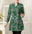 Новый 2017 женщины блузки Мода Длинным Рукавом Дамы Топы Blusas Camisas Femininas v-образным вырезом блузки рубашки