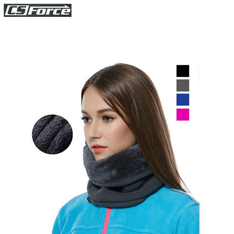 3in1 Outdoor Winter Thicken Warm Fleece Neck Warmer Snood Cycling Scarves Men Bufanda Ski Bicycle Scarf Women Cachecol Feminino 4 in 1 winter unisex women men warm thermal scarf snood neck warmer face mask beanie hats wear collar