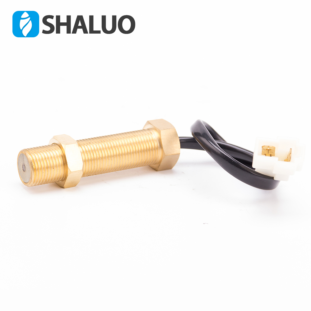 US $12 0 20% OFF|Engine Magnetic Speed Sensor M18 Screw Brass transmition  diesel generator part electronic alarm ohm rpm speed pickup sensor-in