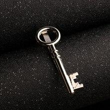Men's Elegant Key Shaped Silver Tiepin
