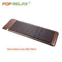 POP RELAX Korea tourmaline stone bed mattress bio germanium jade thermal heating health care far infrared therapy mat 80x190cm