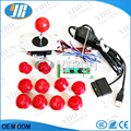 Arcade DIY Kit PC/PS2/PS3/XBOX 360 USB Encoder PC to Joystick +SANWA Classic arcade joystick +push button+ For MAME Jamma Games