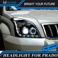 Car Head Lamp for Toyota Prado FJ120 LC120 LED Headlight 2003 2009 Angel Eyes Halo HID Xenon Headlight projector