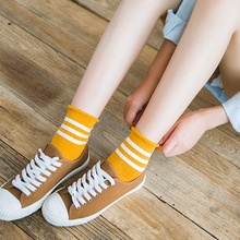 Women Socks Kawaii Streetwear Harajuku 2019 Free Shipping Fashion Cotton Korean Style Pack Of 1 Pairs
