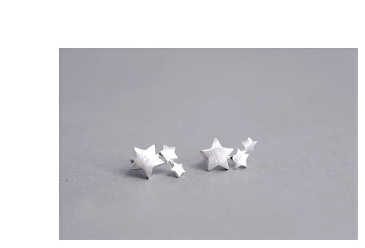 925 sterling silver Star Stud Earrings for Women Elegant Wedding Jewelry pendientes mujer moda 2018 Brincos eh907
