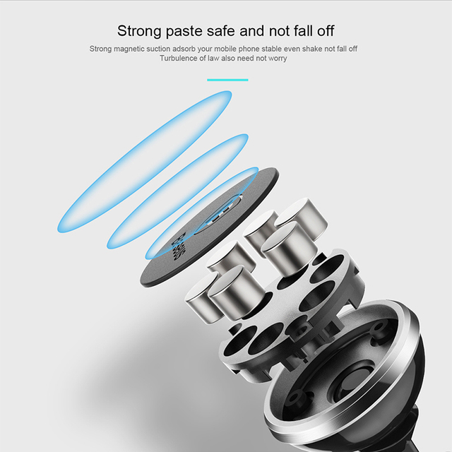 Magnetic Car Phone Holder For iPhone XS X Samsung Magnet Mount Car Holder For Phone in Car Cell Mobile Phone Holder Stand