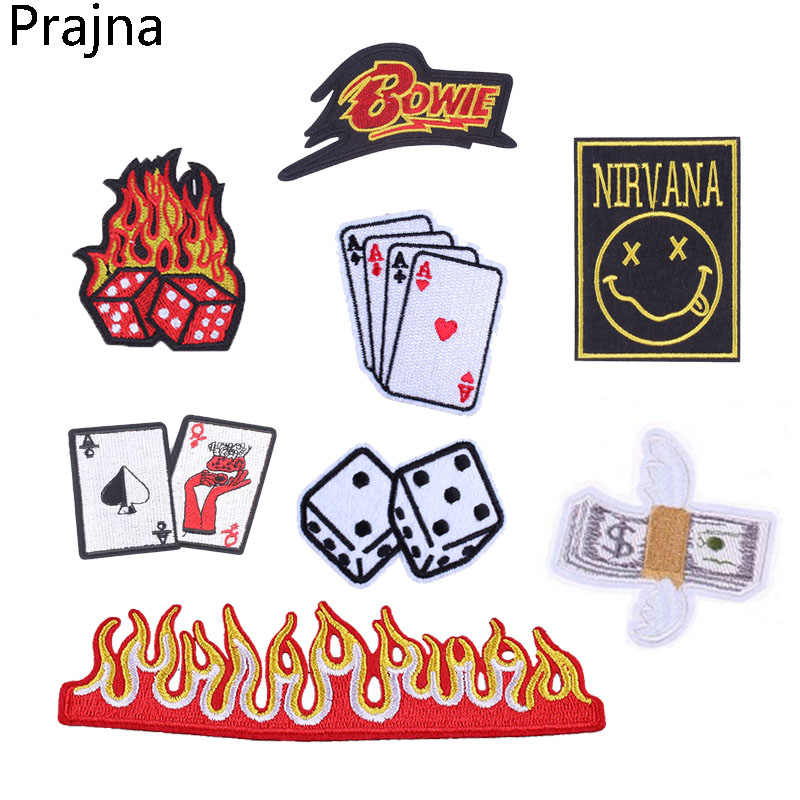 Prajna Nirvana ลูกเต๋างู Patch Applique Marley แพทช์ปักสำหรับเสื้อผ้าลาย Evil Eye Stalker เหล็กบนแพทช์ Biker