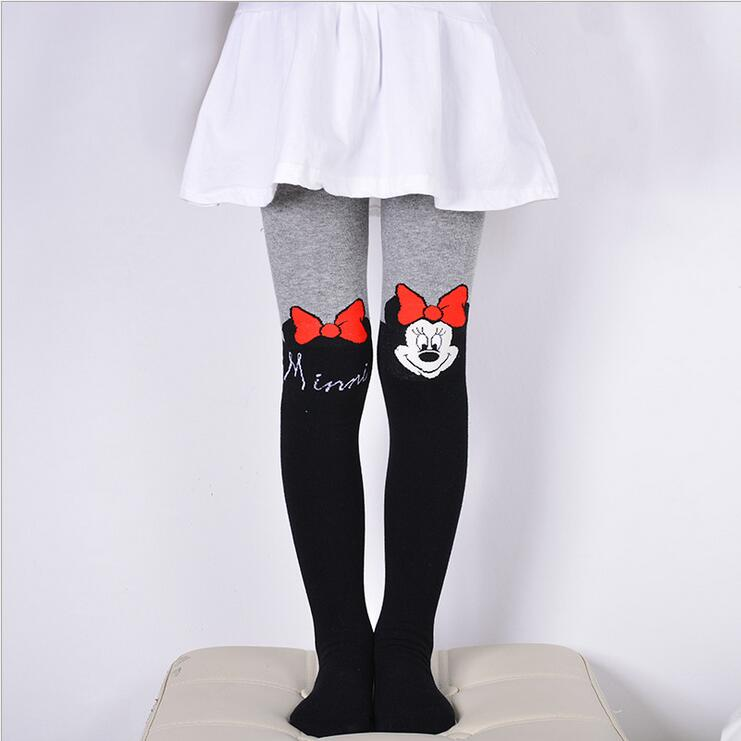 VEENIBEAR 2017 New Cotton Girl Tights Embroidery Cartoon Kids Children Pantyhose Spring Tights For Girls 3-10 T