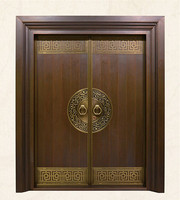 Bronze door security copper entry doors antique Copper Retro Door Double Gate Entry Doors H c14