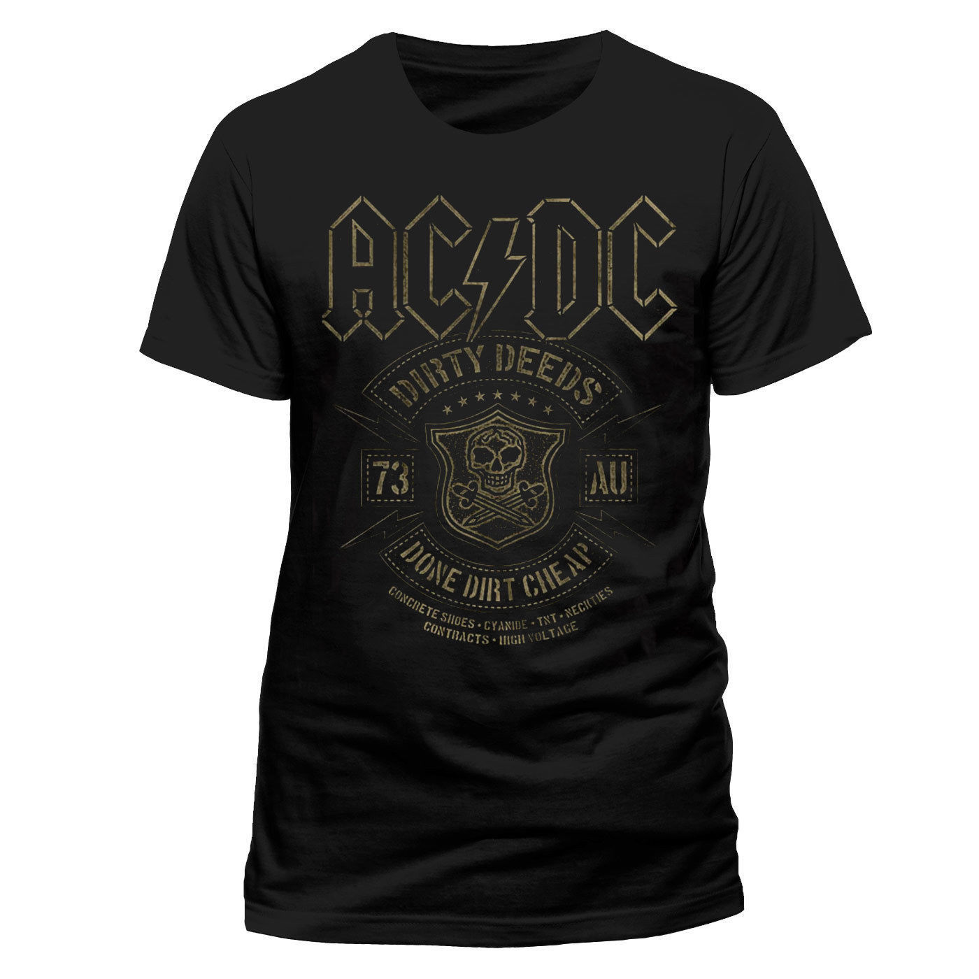 ACDC Licensed Dirty Deeds Done Cheap Rock Heavy Metal Tee T-Shirt Men Cartoon Print Short Sleeve T Shirt Free Shipping
