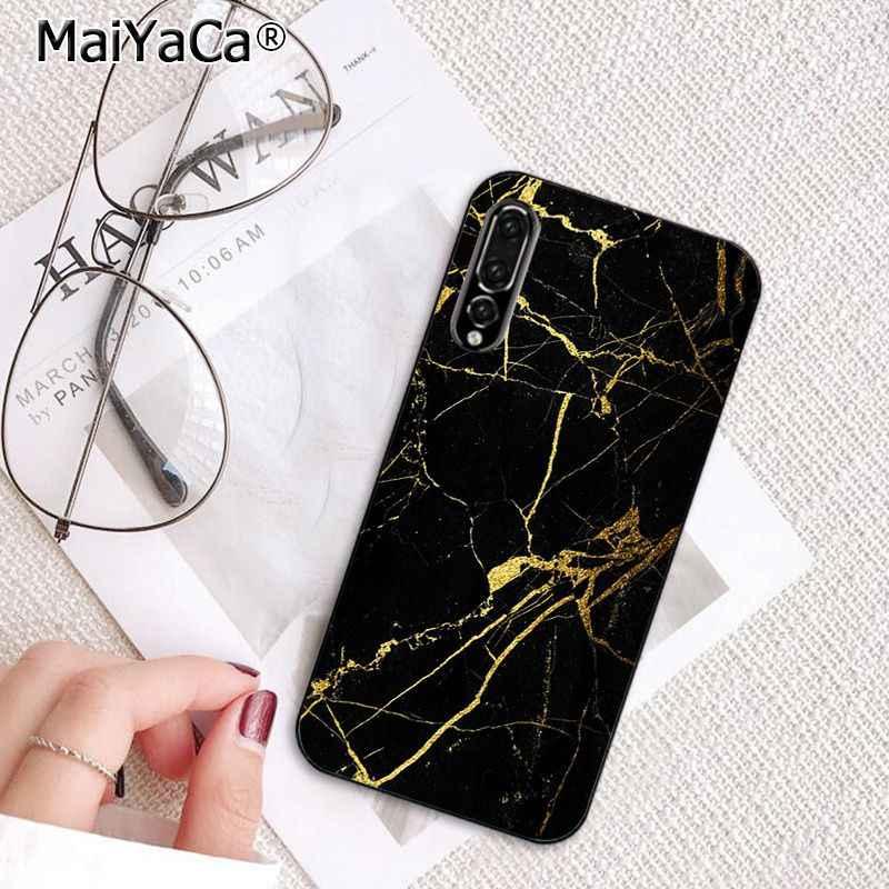 MaiYaCa Vàng Đen Hồng cẩm thạch Trắng cắt dán Ốp Lưng điện thoại Huawei P20Lite P30Pro P Thông Minh Y5 Y6 Honor8A 8C 10i nova3 Mate20Lite