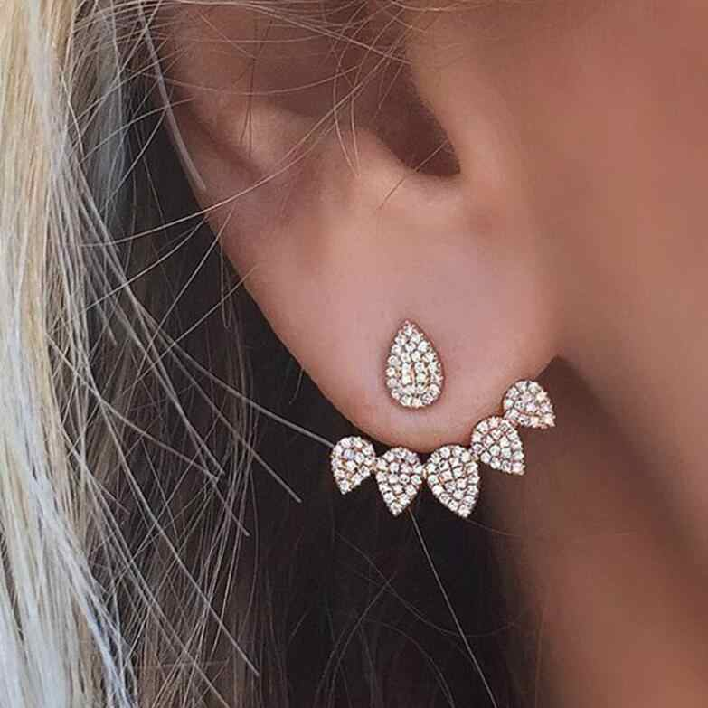 Shuangshuo New Fashion Crystal ear cuff for women 2017 Classic Fake Plug earings brinco earcuff pendientes mujer
