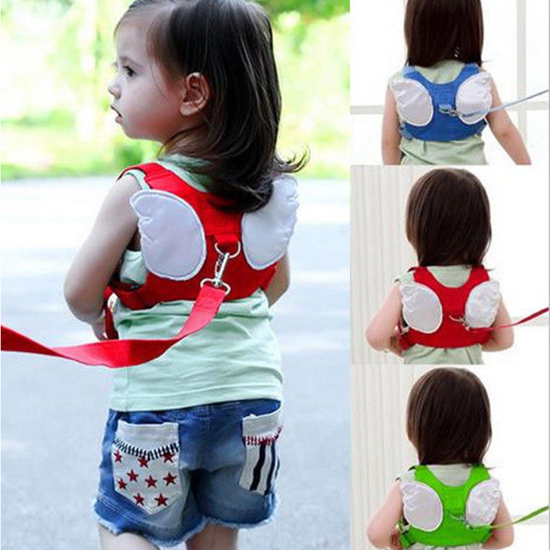 2018 Brand New Hot Baby Kids Safety Harness Strap Toddler Walking Anti-Lost Rope Traction Rope Wings Angel Anti Drop Towing Line
