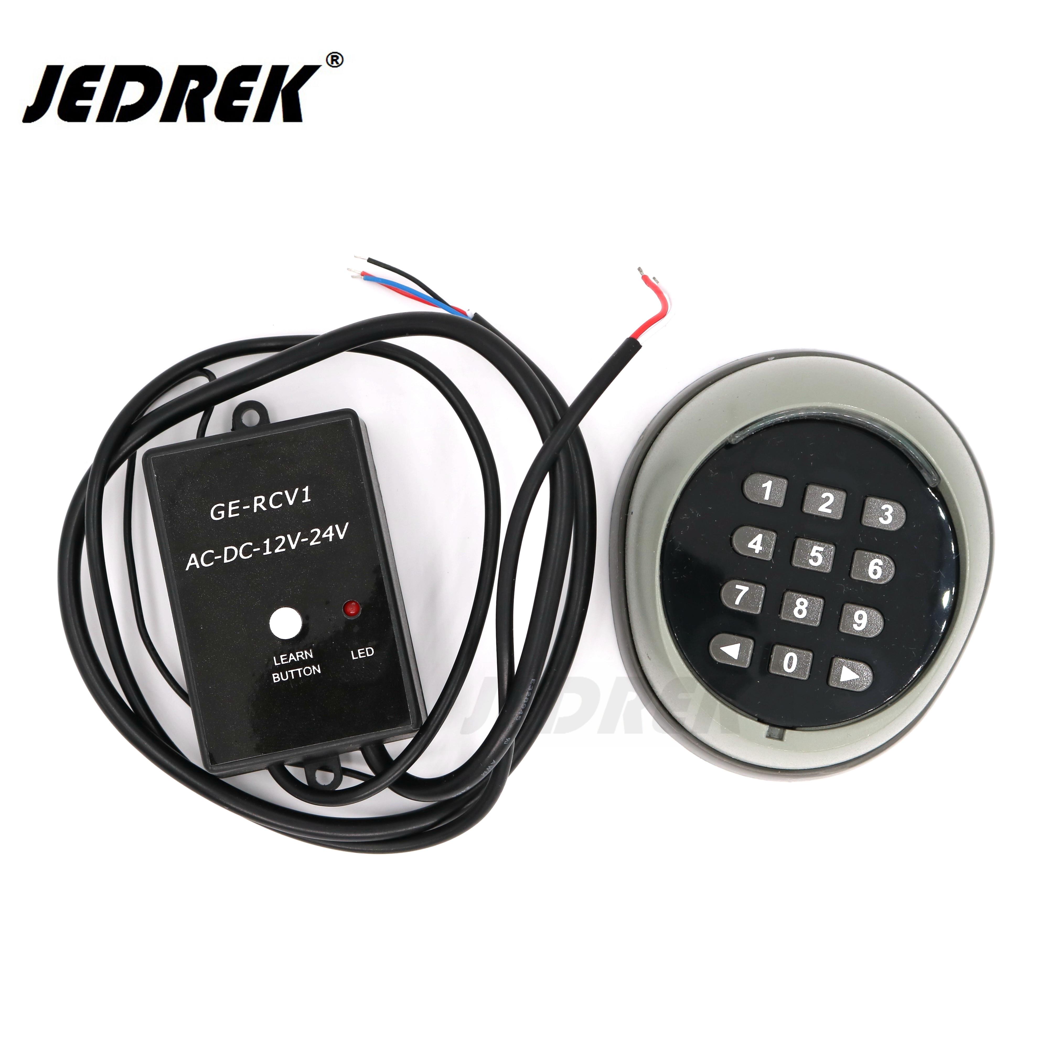 433.92mhz Wireless Remote Keypad Password Switch kit for gate door access control HCS101 Standard Code door gate opener