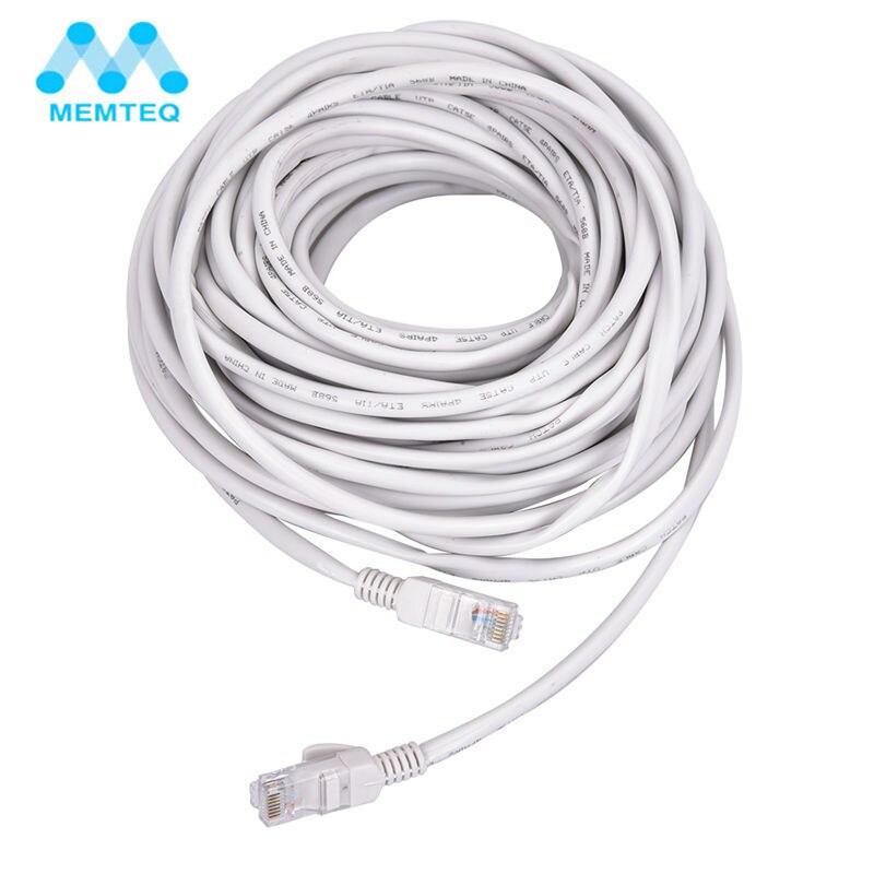 MEMTEQ Ethernet Cables 100FT 15M RJ45 CAT5 Cat5e Ethernet Network LAN Cable UTP Patch Router Interesting for PC Router Laptop networking cables