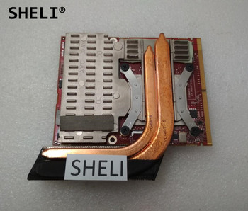 SHELI For Dell Alien-ware M17x R2 HD 4870 4870M Video Card 1G with Heatsink 2TKKD 2YVP1 02YVP1 CN-02YVP1