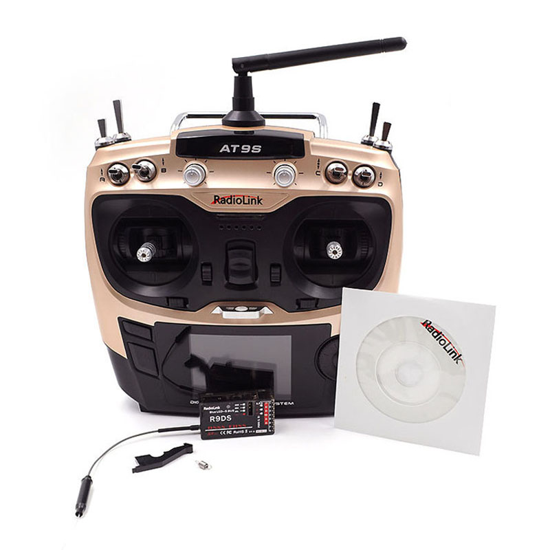 Radiolink AT9S R9DS Radio Télécommande Mode 2 Système SSD FHSS 2.4g 10CH Émetteur Récepteur pour Hélicoptère RC/ BATEAU RC