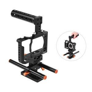 Image 5 - Andoer Kamera Käfig für Sony A6500/A6400/A6300/A6000 Kamera Video Film Film Machen Stabilisator Aluminium Legierung 1/4 zoll Schraube