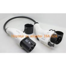 Duosida ZENCAR EVSE EV адаптер SAE J1772 тип 1 к Тип 2 16A 32A разъем для зарядки электромобилей