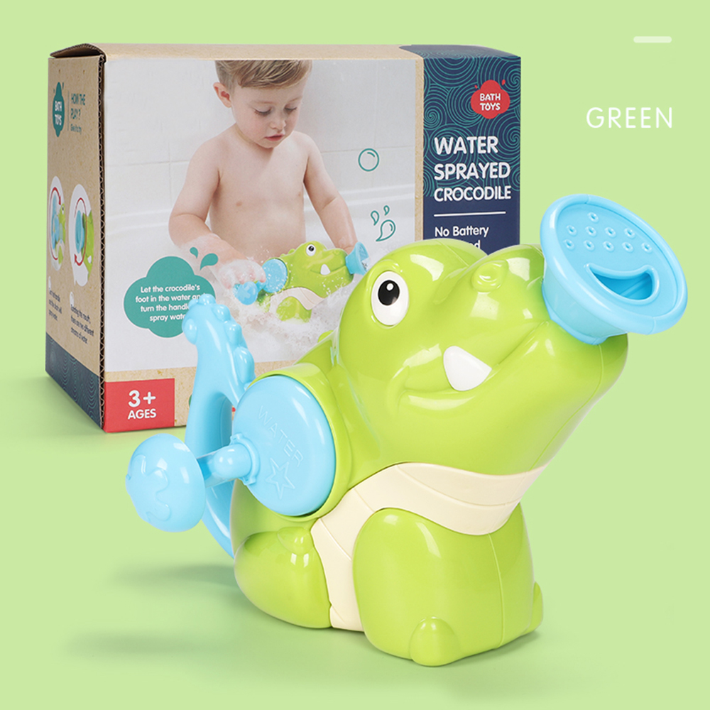 Прочные игрушки для мытья рук, Пластиковые Игрушки для ванны акулы, подарок, Прямая - Цвет: crocodile