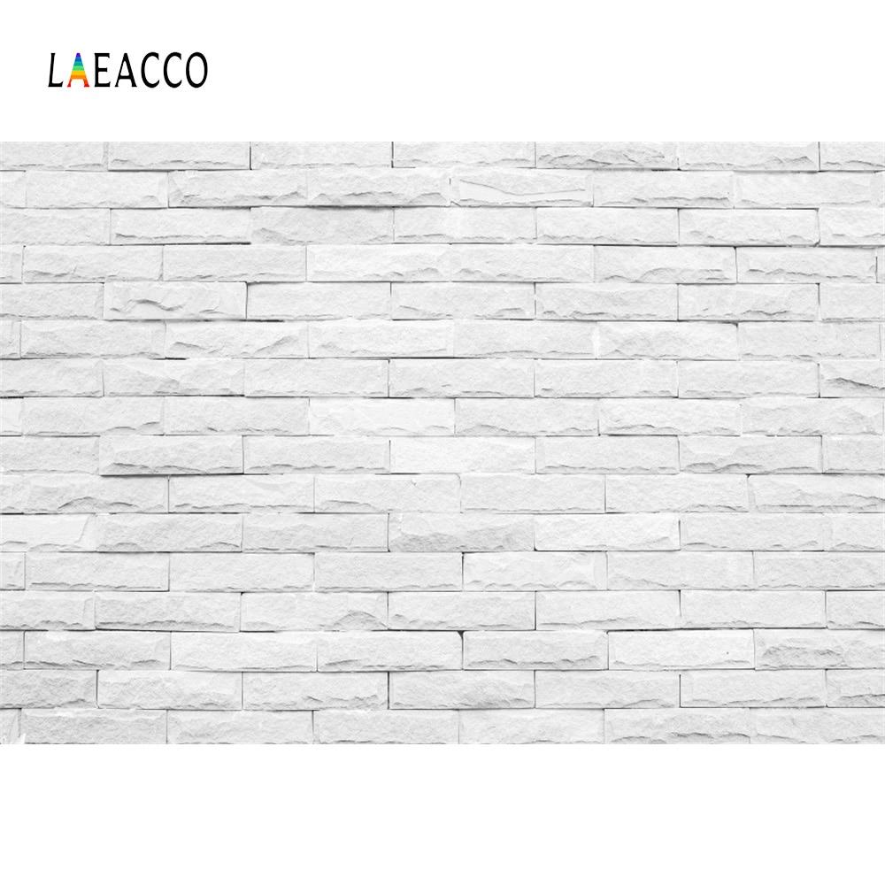 Laeacco grijs wit bakstenen muur bruiloft verjaardag fase fotografie - Camera en foto