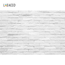 Laeacco Gray White Brick Wall Wedding Birthday Stage Photography Backgrounds Customized Photographic Backdrops For Photo Studio