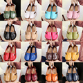 16 colores más el tamaño 34-44 2017 Nueva Moda Slipony mujeres zapatos casuales de cuero genuino mujeres de los planos de deslizamiento en los zapatos de la señora ALY331