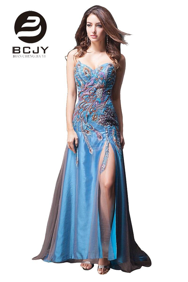 Élégant Sexy fente robes de bal chérie robes de soirée robe hors épaule étage longueur broderie Caystal 2019 réel échantillon