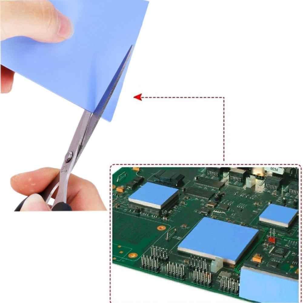 YOUNUON 100x100mm 0,5mm 1mm 1,5mm 2mm 3mm 4mm 5mm tichkess almohadilla térmica CPU cojín disipador térmico de conductivo de silicona térmica