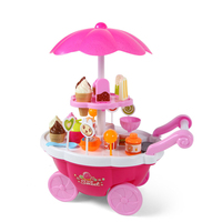 Mini Pink Shop Ice Cream Candy Car Children Kids Girls Pretend Play Set Toy Baby Educational Toys Gift